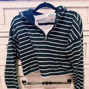 striped half zip ✰